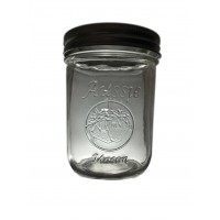 Aussie Mason LOGO 86mm (WIDE) Mouth 500ml Jars & Lids x 12