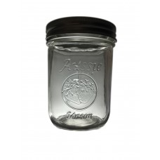 SOLD OUT  - Aussie Mason LOGO 86mm (WIDE) Mouth 500ml Jars & Lids x 6