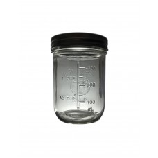 Aussie Mason Quilted 86mm (WIDE) Mouth 500ml Jars & Lids x 6