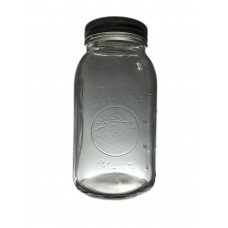 Aussie Mason 68mm Mouth (Regular) 950ml QUART Jars & Lids  x 6