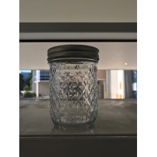 Aussie Mason Quilted 86mm (WIDE) Mouth 500ml Jars & Lids x 12  - SOLD OUT more soon