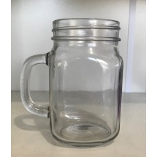 Plain Beer Mugs 415ml with silver daisy lids regular mouth x 6