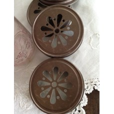 Daisy Cut Lid Bronze / Rust color x 12 - Regular Mouth