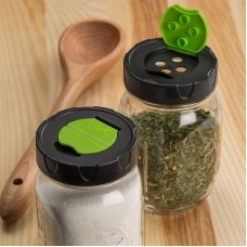 Ball Mason Dry Herb & Spice Storage Shaker Lids  Regular Mouth - pack of 2
