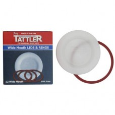 Tattler Reusable Lids & Rings  Wide Mouth x 12 - SOLD OUT MORE SOON