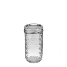 Ball Quilted 12oz Jars & Lids x 6