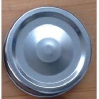 1 piece Wide Mouth Metal Lid Silver x 6 - can be a little sticky