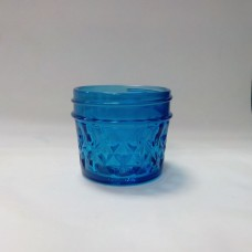Aussie Mason Quilted BLUE 120ml Jars & Lids x 12  - In Stock