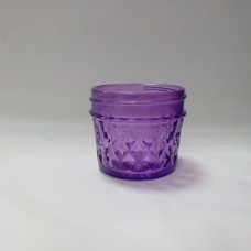 Aussie Mason Quilted PURPLE 120ml Jars & Lids x 12  - LIMITED STOCK