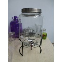 Mason Jar Drink Dispenser 8L - With Free Metal Stand