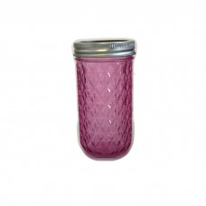 Aussie Mason Quilted Pink 340ml Jars & Lids x 12  - In Stock