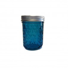 Aussie Mason Quilted BLUE 240ml Jars & Lids  BULK DEAL 7 cases (84 jars) - FREE SHIPPING no PO boxes