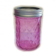 Aussie Mason Quilted Pink 240ml Jars & Lids x 12 - IN STOCK