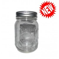 Aussie Mason CLEAR Logo 68mm Mouth (Regular) 500ml Jars & Lids  x 12