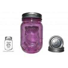 Aussie Mason Color Logo 68mm Mouth (Regular) 500ml Jars & Lids  x 12 - IN STOCK