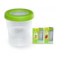 Ball 8oz Plastic freezer Jars x 3