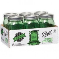 Ball Heritage Collection GREEN Quart jars & Lids x 6 - ON SALE!!