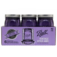 Ball Heritage Collection PURPLE Quart jars & Lids x 6 IN STOCK NOW
