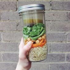 BNTO Canning Jar Lunchbox Adaptor - Wide Mouth - 6oz - Clear