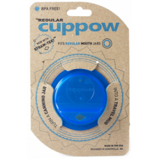Cuppow for Regular Mouth Mason Jars x 1 BLUE or Pink  BPA FREE