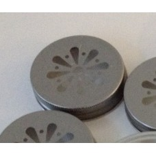 Daisy Cut Lid Pewter- Regular Mouth