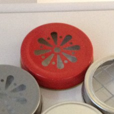 Daisy Cut Lid Red - Regular Mouth