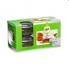 Ball Elite Wide Mouth Half Pint Jars x  4