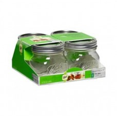 Ball Elite Wide Mouth Pint Jars x 4 - SOLD OUT MORE SOON