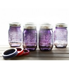 Ball Heritage Collection PURPLE Pint jars & Lids x 6 in stock now!