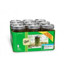 Ball Wide Mouth Pint & Half Jars & Lids x 9