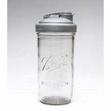 SOLD OUT - Drinking Cap Fits Wide Mouth Mason Jars x 1 Silver BPA FREE
